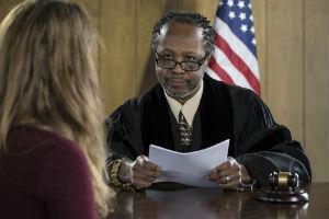 A New Jersey marijuana possession attorney talking to the judge.